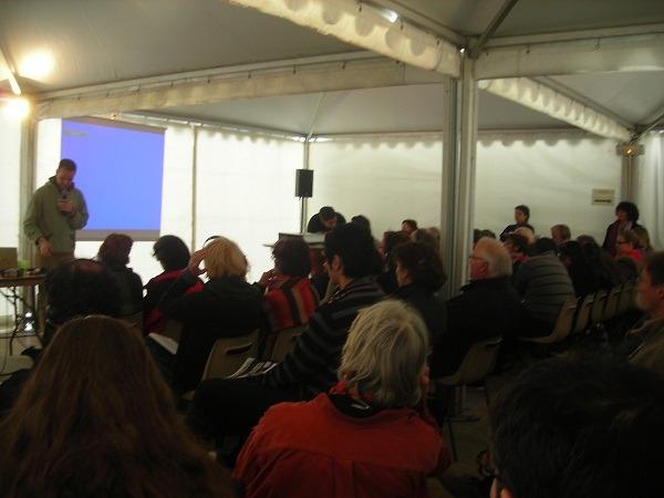 Conférence au Cabaret Rouge, Forum Alternatif Mondial de l'Eau