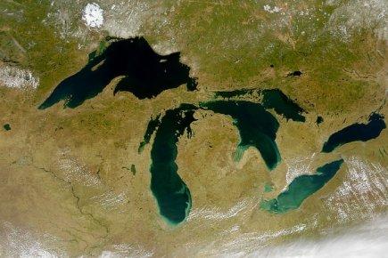 Photo satellite des Grands Lacs