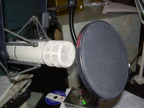 Image d'un micro en studio radio