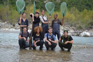 Etudiants de la nouvelle promotion médiation en environnement, du haut à gauche au bas à droite: Marie, Valentine, Coline, Ahmed, Cédric, Anissa, Antoine et Mathieu