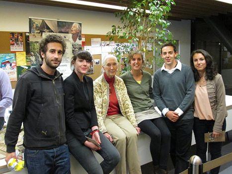 Jane Goodall à Aix avec les étudiants de Master Médiation