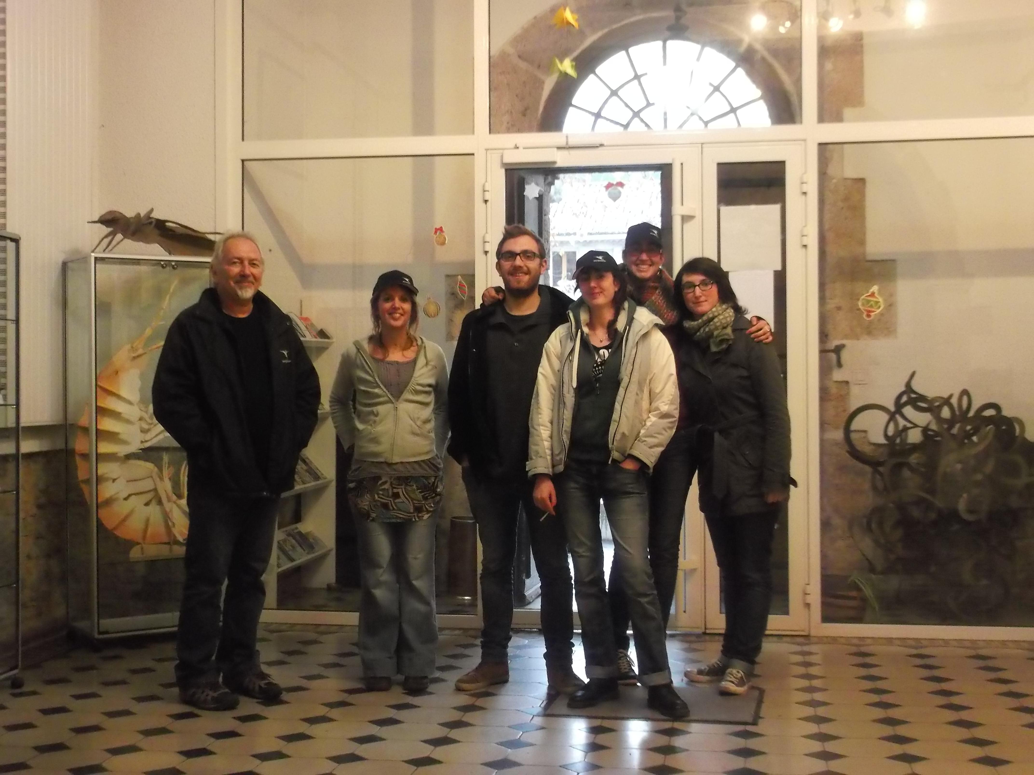 Les étudiants à la MRE (crédit photo: V.Plessis)