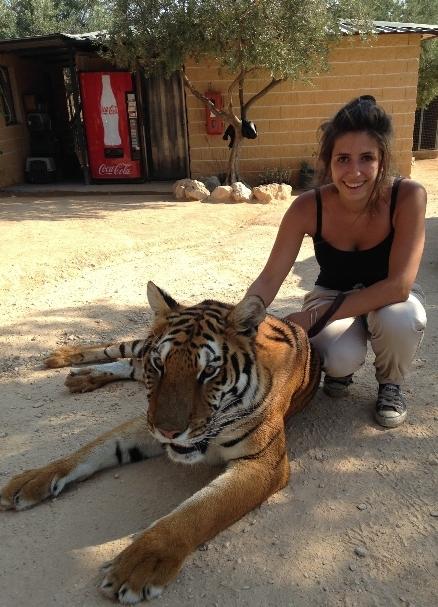 Mathilde et un tigre